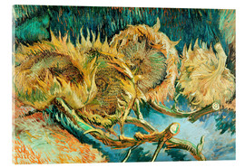 Cuadro de metacrilato  Four Cut Sunflowers - Vincent van Gogh