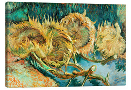 Lienzo  Four Cut Sunflowers - Vincent van Gogh