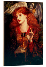 Cuadro de madera  The Damsel of the Sanct Grail - Dante Charles Gabriel Rossetti