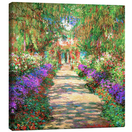 Lienzo  A Pathway in Monet's Garden - Claude Monet