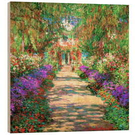 Madera  A Pathway in Monet's Garden - Claude Monet