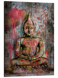 Aluminio-Dibond  Old Buddha in Graffiti - teddynash