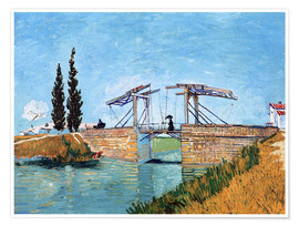 Póster  The drawbridge in Arles - Vincent van Gogh