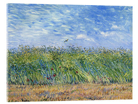 Metacrilato  Corn field with poppies and partridge - Vincent van Gogh
