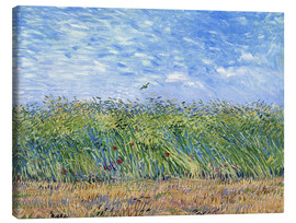 Lienzo  Corn field with poppies and partridge - Vincent van Gogh