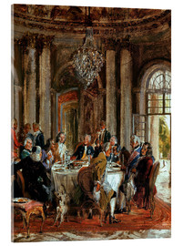Cuadro de metacrilato  King Frederick II. Guests at Sanssouci - Adolph von Menzel