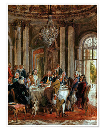 Póster King Frederick II. Guests at Sanssouci