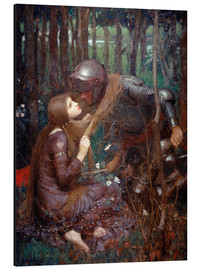 Cuadro de aluminio  La bella dama sin piedad - John William Waterhouse