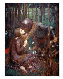 Póster  La bella dama sin piedad - John William Waterhouse