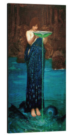 Cuadro de aluminio  Circe envidiosa - John William Waterhouse