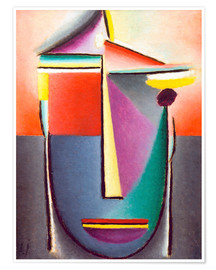 Póster  Abstract head: Life and death - Alexej von Jawlensky