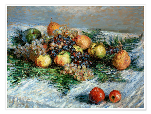 Póster Still-life with fruit