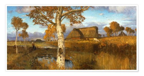 Póster The Marsh in Autumn