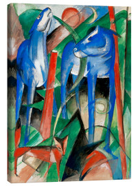 Lienzo  Creation of the horses (three Fabeltiere) - Franz Marc