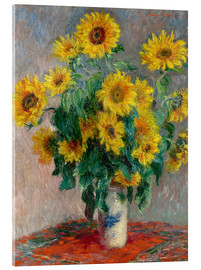 Metacrilato  Bouquet des soleils - Claude Monet