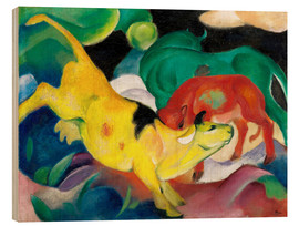 Madera  Cows, yellow, red, green - Franz Marc