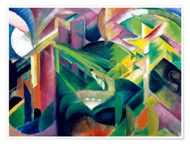 Póster  Deer in the Monastery Garden - Franz Marc