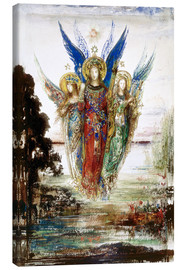 Lienzo  Job and the Angels - Gustave Moreau