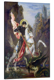 Aluminio-Dibond  St. George and the Dragon - Gustave Moreau