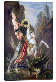 Lienzo  St. George and the Dragon - Gustave Moreau