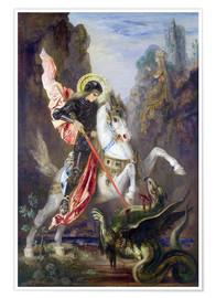 Póster  St. George and the Dragon - Gustave Moreau