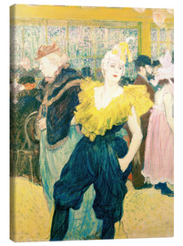 Lienzo  The Clowness Cha-u-kao - Henri de Toulouse-Lautrec