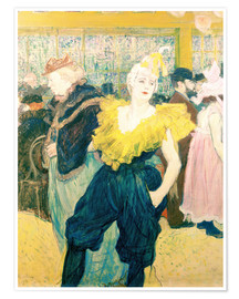 Póster  The Clowness Cha-u-kao - Henri de Toulouse-Lautrec