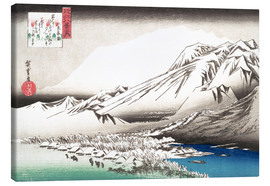 Lienzo  Evening Snow on Mount Hira - Utagawa Hiroshige
