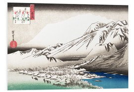 Cuadro de PVC  Evening Snow on Mount Hira - Utagawa Hiroshige