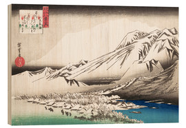 Cuadro de madera  Evening Snow on Mount Hira - Utagawa Hiroshige