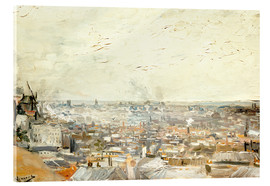 Metacrilato  Roofs of Paris from Montmartre - Vincent van Gogh