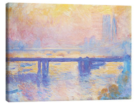 Lienzo  Charing Cross Bridge - Claude Monet