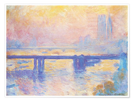 Póster  Charing Cross Bridge - Claude Monet