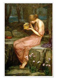 Póster  Psique abre la caja de oro - John William Waterhouse