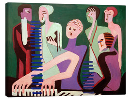 Lienzo  Cantante al piano - Ernst Ludwig Kirchner