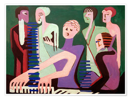 Póster  Cantante al piano - Ernst Ludwig Kirchner