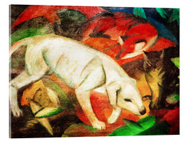 Metacrilato  Dog, cat, fox - Franz Marc
