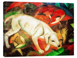 Lienzo  Dog, cat, fox - Franz Marc