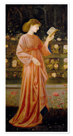 Póster  Princess Sabra - Edward Burne-Jones