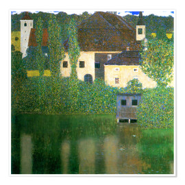 Póster  Castle chamber on the Attersee I - Gustav Klimt