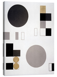 Lienzo  Composition with circles and rectangles - Sophie Taeuber-Arp
