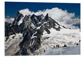 Cuadro de PVC  Mont Blanc Massif and mountaineer, France - Frauke Scholz