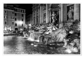 Póster  Trevi fountain in Rome - Filtergrafia
