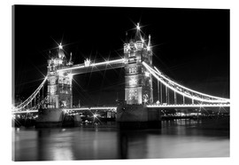 Cuadro de metacrilato  Tower Bridge by Night sw - Melanie Viola