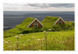 Póster  Traditional Houses in the Skaftafell National Park, Iceland - Markus Ulrich
