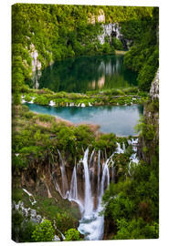 Lienzo  Waterfall Paradise Plitvice Lakes - Andreas Wonisch