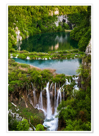 Póster  Waterfall Paradise Plitvice Lakes - Andreas Wonisch