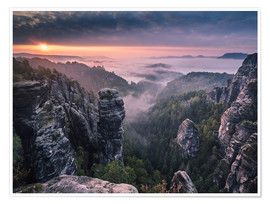 Póster  Sunrise on the Rocks - Andreas Wonisch