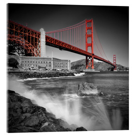 Cuadro de metacrilato  Golden Gate Bridge Fort Point - Melanie Viola