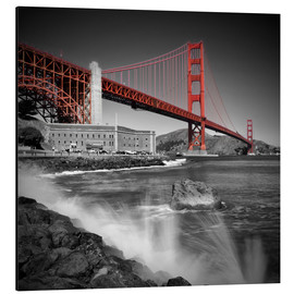 Cuadro de aluminio  Golden Gate Bridge Fort Point - Melanie Viola